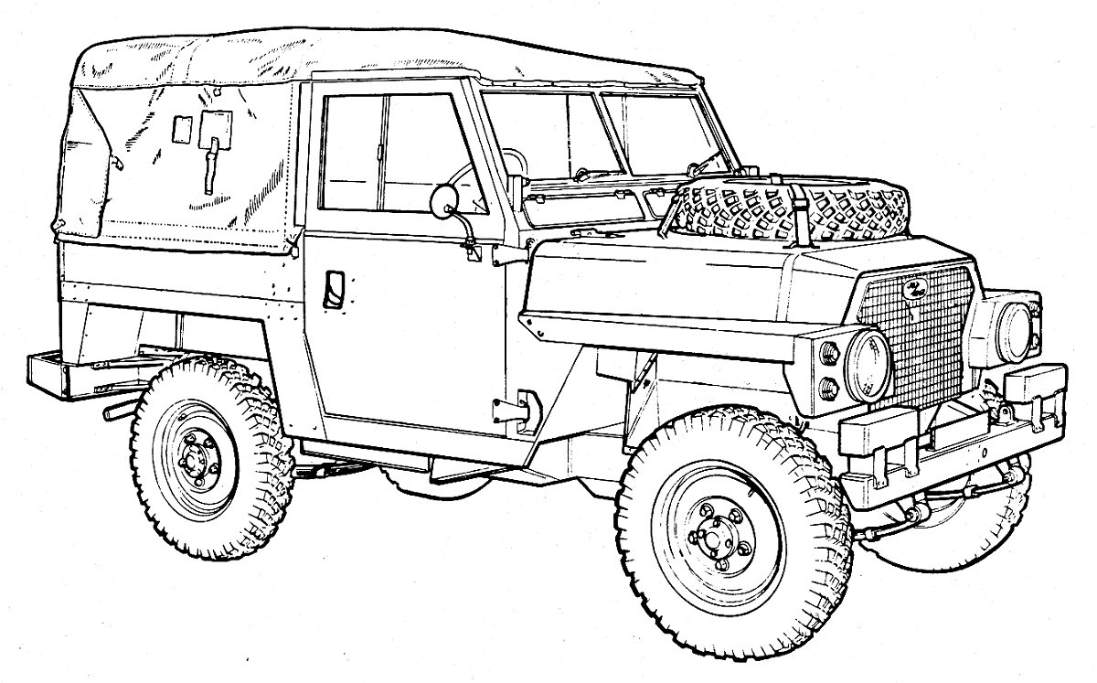 Fine Land Rover Series Coloring Pages Festooning - Resume Ideas ...